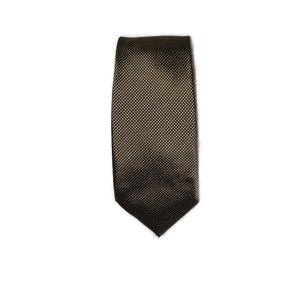 Burberry Men's tie in brown and cream pattern